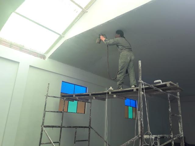 Der Neubau der Kapelle in Casa Grand Bolivien geht auch während der Padre in Deutschland weilt weiter