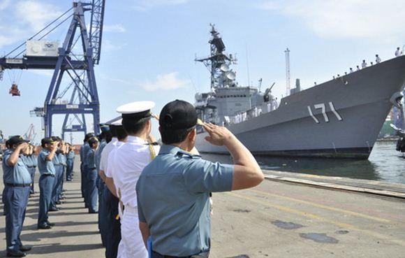 Kapal perang Jepang kunjungi Koarmabar
