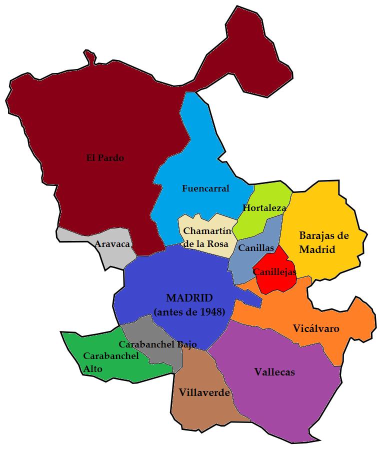 Mapa Terminos Municipales Madrid.El Blog De Cesar Mb Noviembre 2016