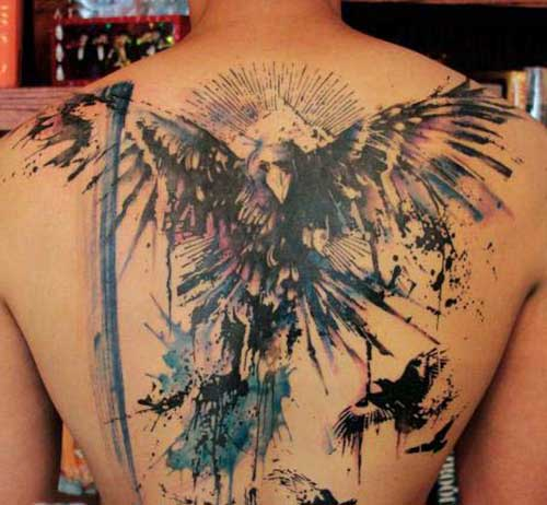 eagle tattoo draw