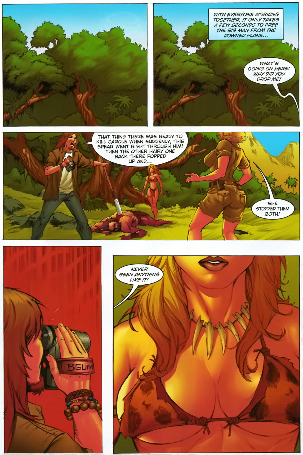 Read online Jungle Girl comic -  Issue #1 - 10