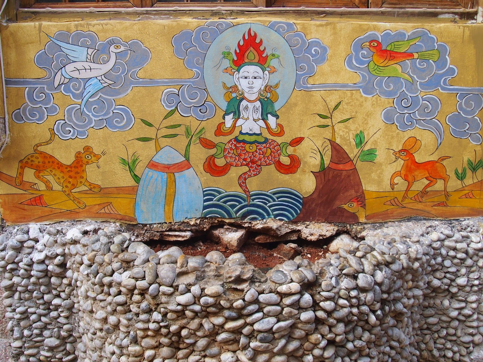 Dongba images in Lijiang Old Town