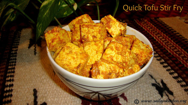images of Quick Tofu Stir Fry Recipe / Tofu Fry Recipe