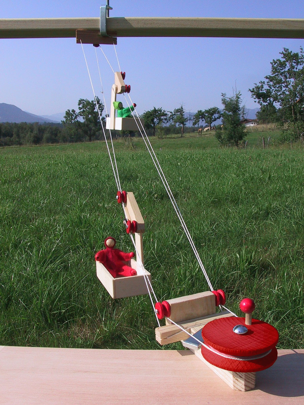 gutes lernspielzeug: eine seilbahn mit kindern ab 9 jahre bauen + 2