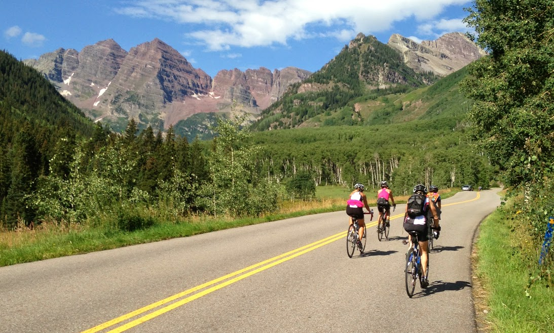 On the path of the 2014 USA Pro Challenge - Aspen - Pedal