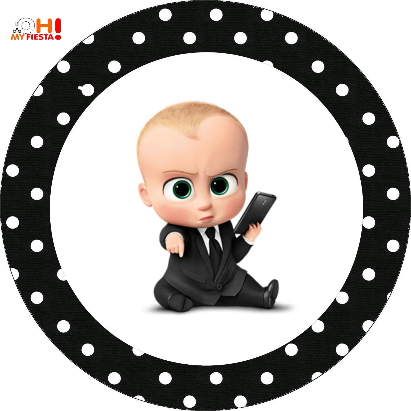 image regarding Boss Baby Printable named The Manager Little one Occasion Free of charge Printable Cupcake Wrappers and