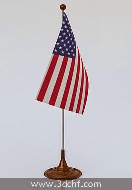flag 3d model free