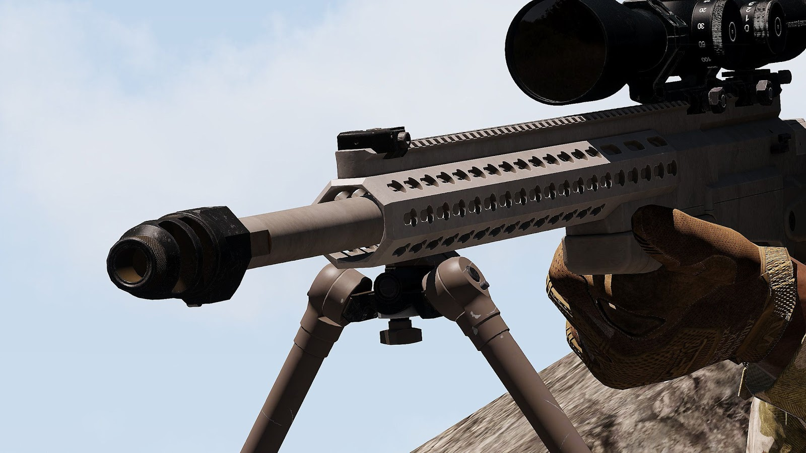 Arma 3 に高精度の狙撃銃を追加する SPS AI AXMC Sniper Rifle