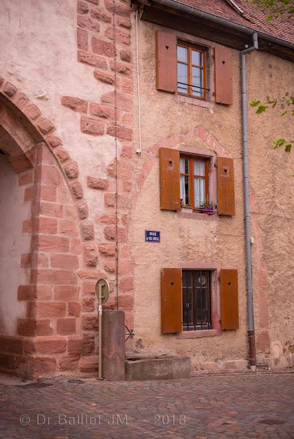 Fortifications de Bergheim (Alsace). Obertor (Porte haute) - Vue intérieure.