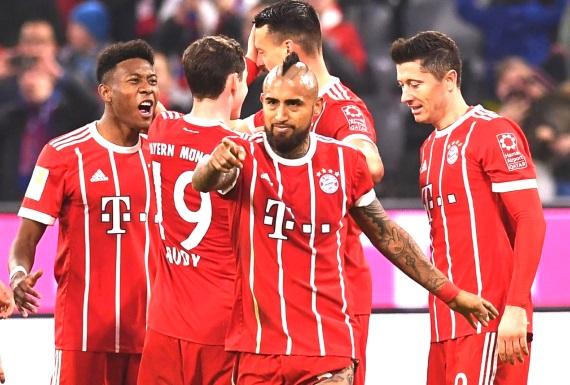 With 14 rounds of Bundesliga football remaining, Bayern Munich lead the pack by a mammoth 16 points