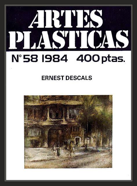 ARTES PLASTICAS-REVISTA-ARTE-PINTURA-PORTADAS-CUADROS-PEDRERA-BARCELONA-REVISTAS-PINTOR-ERNEST DESCALS