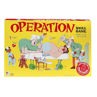 Use the Operation game to improve pencil grasp, making it the perfect fine motor game for occupational therapy activities.