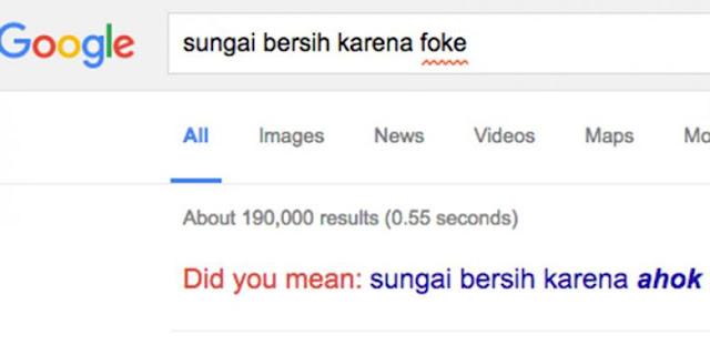 Heboh ahok di google, Ketik apapun bersih karena foke !