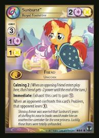 My Little Pony Sunburst, Royal Foalsitter Defenders of Equestria CCG Card