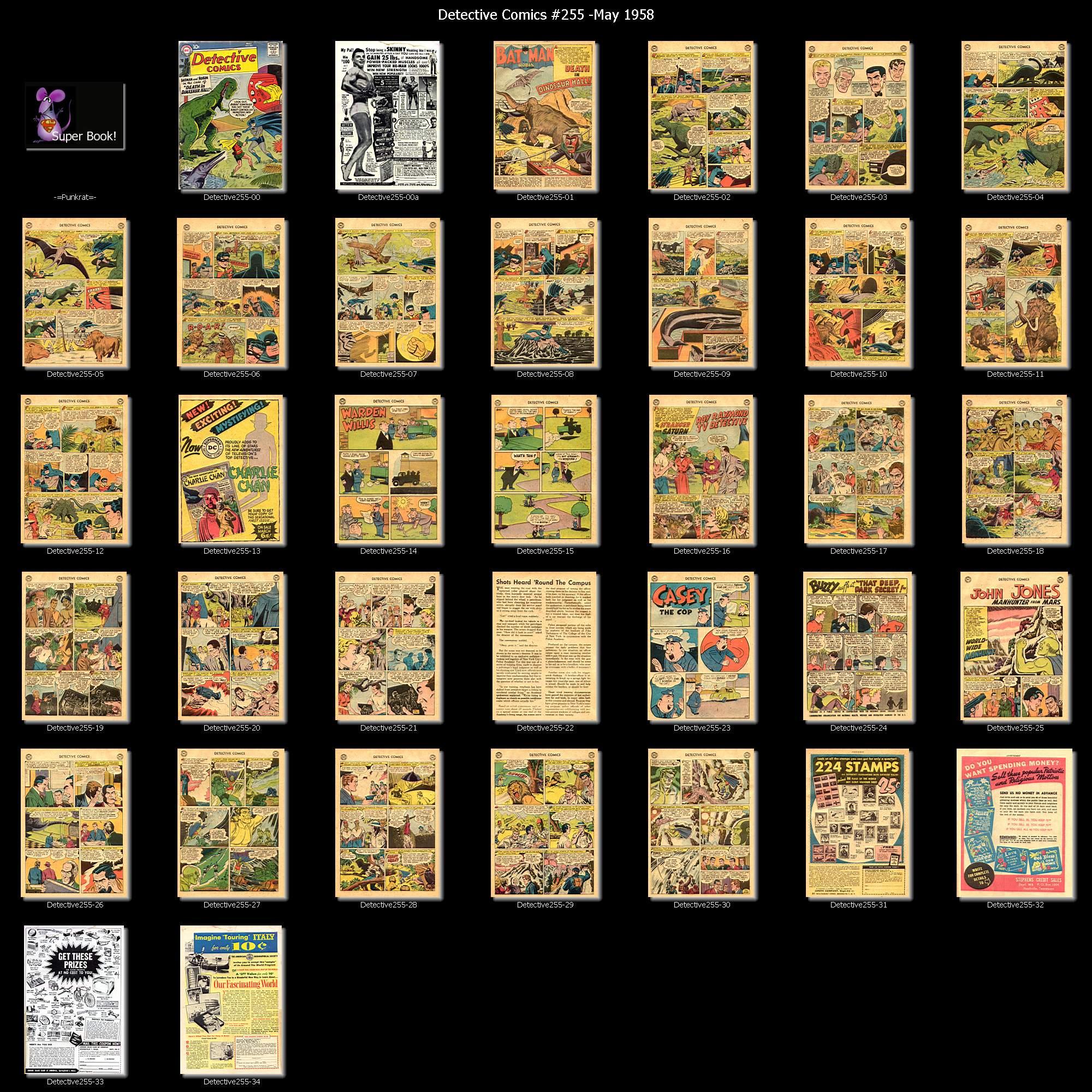 Read online Detective Comics (1937) comic -  Issue #255 - 37