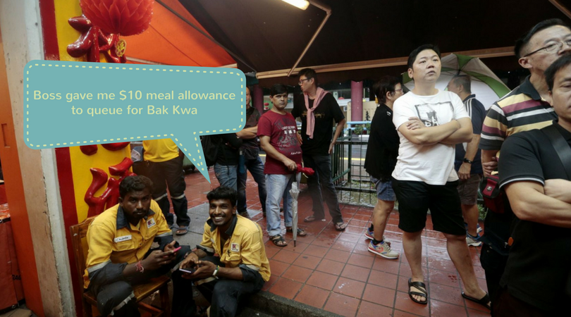 Why is it wrong to ask your foreign workers to queue for Bak Kwa