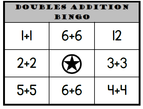 Doubles Addition Bingo
