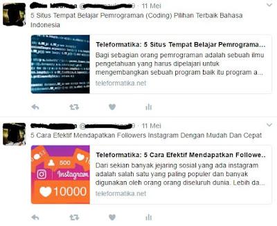 Cara Agar Posting Blog Dibagikan Ke Twitter Secara Otomatis Setelah DiPublish