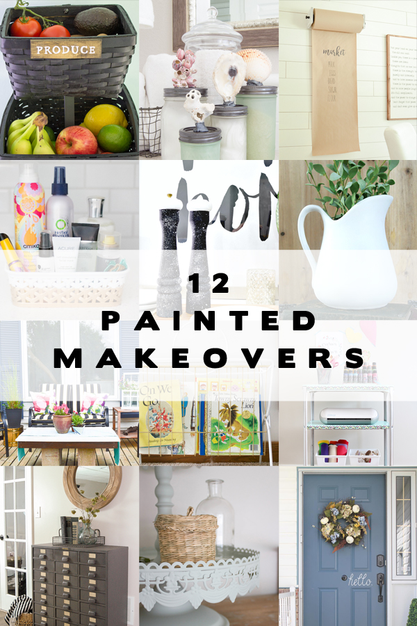 12 painted makeovers using HomeRight spray shelter