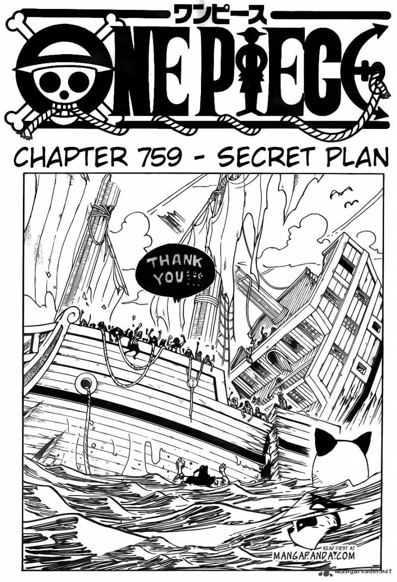 One Piece Ch 759: Secret Plan