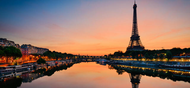 Paris ao entardecer