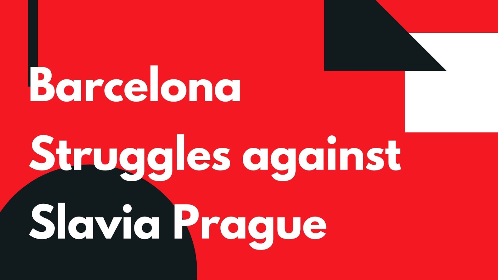 Barcelona Struggles against Slavia Prague at the Camp Nou #Barca #FCBarcelona