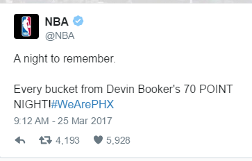 Suns guard Devin Booker makes history, scores 70 points