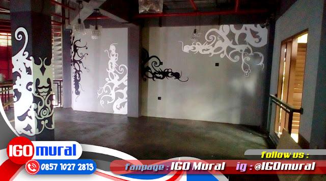 Mural hitam putih yang simple namun elegan mural art for Mural hitam putih