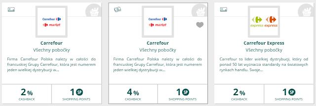 Polsko, Carrefour, zvýšený cashback 4%