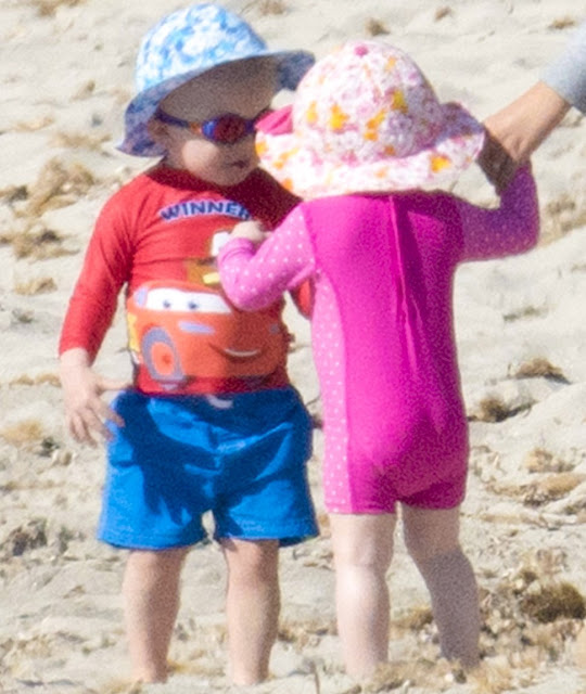 Princess Charlene of Monaco, her twins Princess Gabriella and Crown Prince Jacques