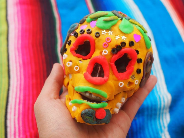 day of the dead play doh sugar skull kids activity craft