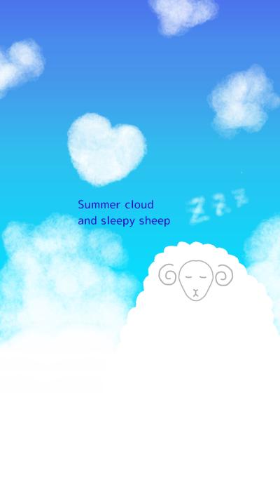 Summer cloud and sleepy sheep