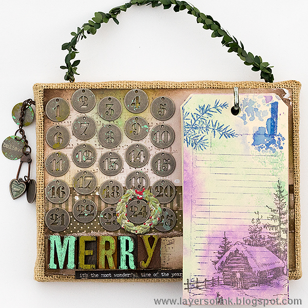 Layers of ink - December Countdown Tags Video Tutorial by Anna-Karin, for December daily journal.