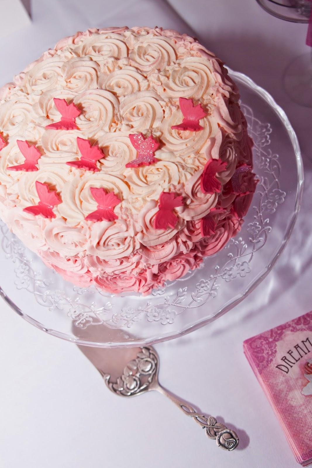Swirl Cake Schmetterlinge