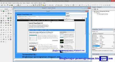 FORM DESIGNER R VISUAL BASIC 6.0 DAN FUNGSINYA