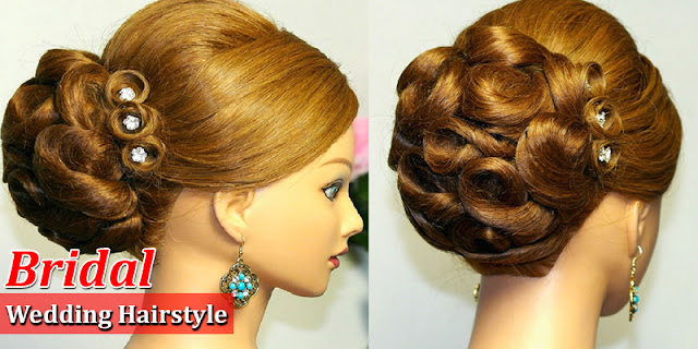 How To Make Bridal Wedding Updo Hairstyle, See Tutorial