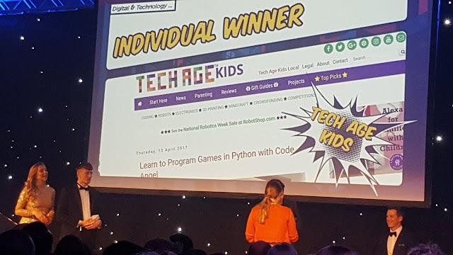 Tech Age Kids wins UK Blog Awards