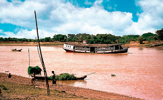 A Cargo Vessel of the Irrawaddy Flotilla Company