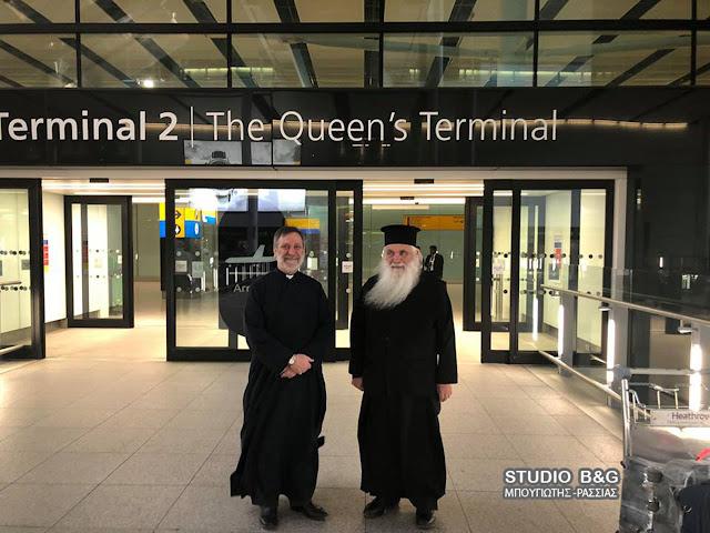 Ο Μητροπολίτης Αργολίδος μεταφέρει τα Ιερά Λείψανα του Αγίου Λουκά στην Αγγλία