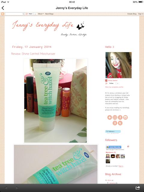 My earliest blog design, Jan 14