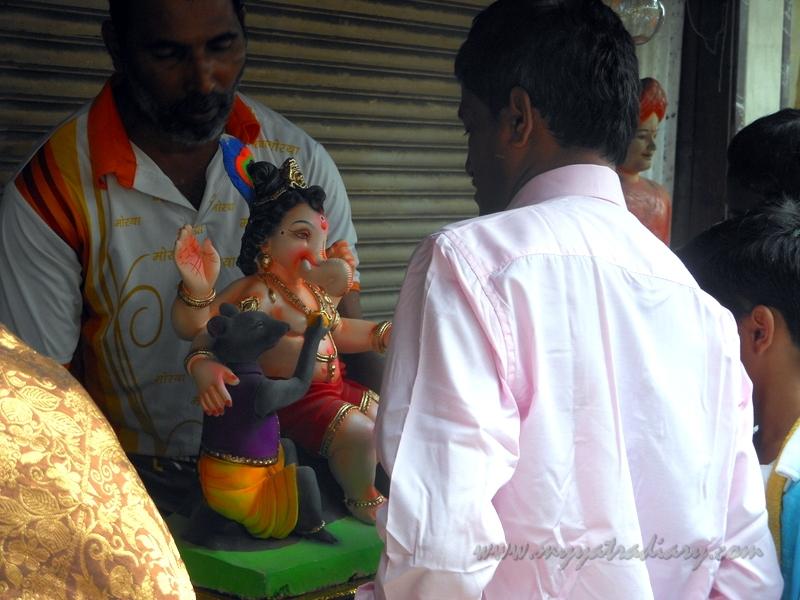 Ganesha at Ganesh Chaturthi Day 1 Ganesh Sthapana Mumbai