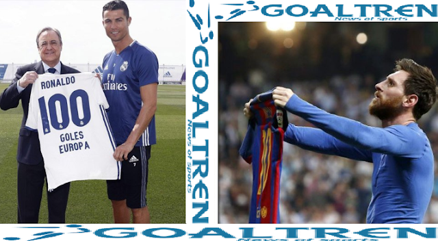 Messi and Ronaldo are two players who often compete in the pursuit of certain achievements and achievements. In 2017, they are both fighting Ballon d'Or. Ronaldo will struggle to match Messi's five collection awards as the world's best player.