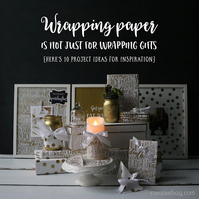 10 wrapping paper projects that don't involve gift wrapping | Creative Bag