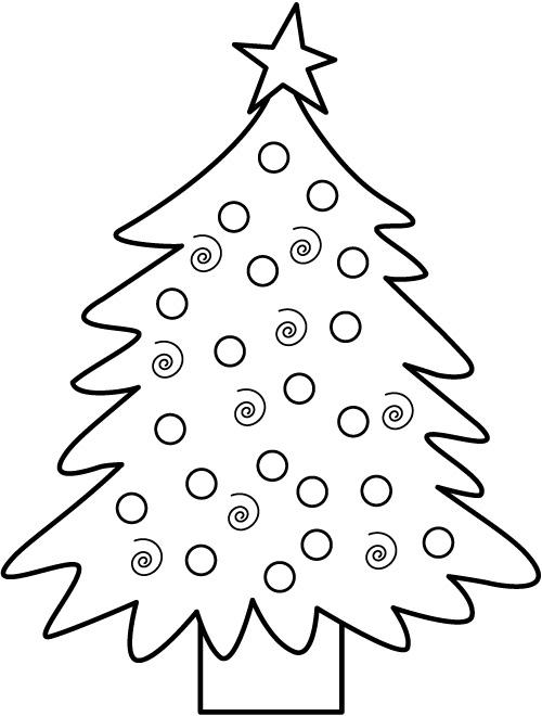развитие ребенка раскраска елка