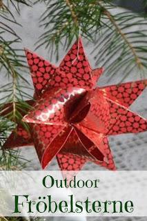 Basteln für Weihnachten Gartendeko Sterne
