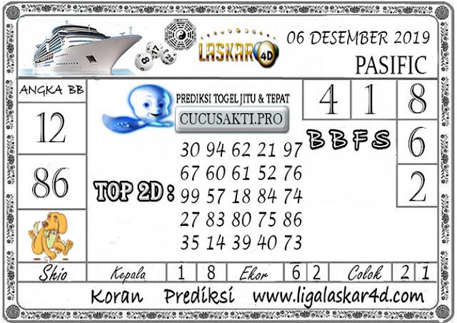 Prediksi Togel PASIFIC LASKAR4D 06 DESEMBER 2019