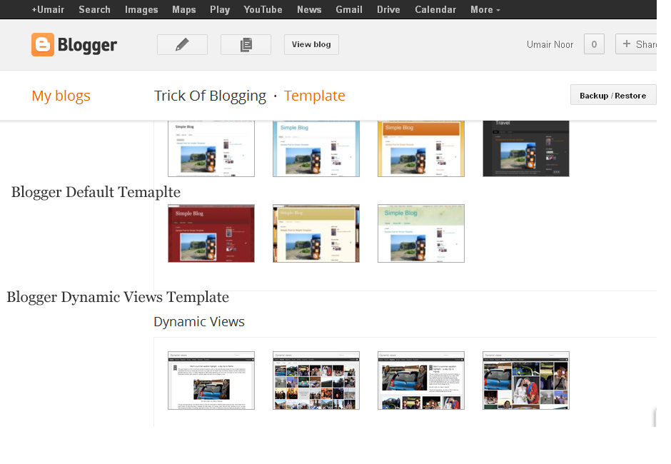 Customise Blogger Default Template To Make Professional Template 1