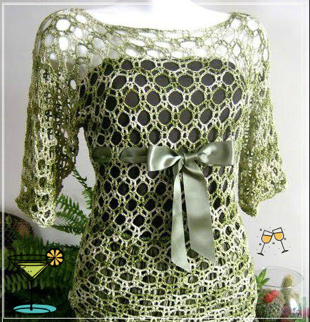 SEE BEAUTIFUL CROCHET WITH OPEN POINT
