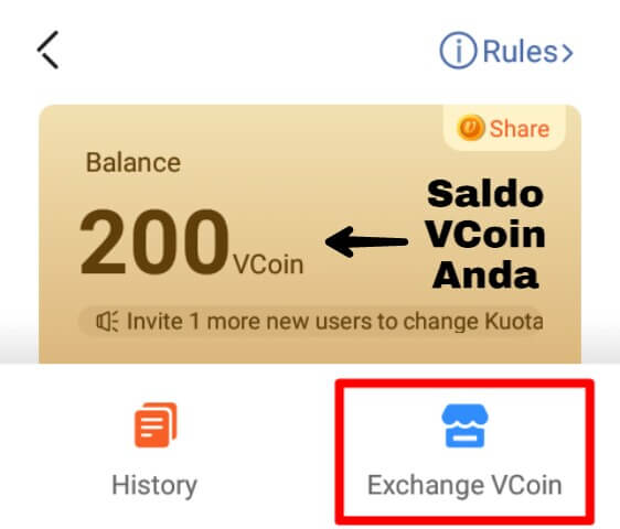 Kumpulkan VCoin sebanyak-banyaknya dengan 2 cara diatas dan pilihlah hadiah yang Anda inginkan. Semakin mahal nilai hadiah maka semakin banyak pula VCoin yang harus Anda peroleh.