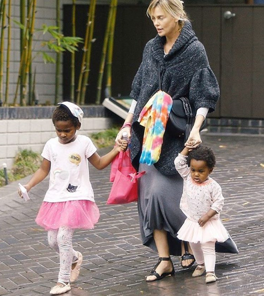 Charlize Theron Receives Backlash For Dressing Her Black Son Up As A